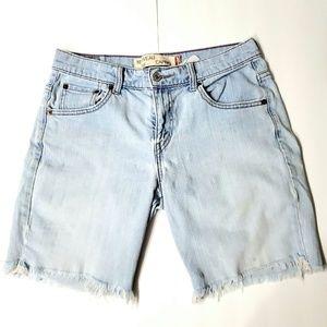 Levi's Lightwash Cutoff Denim Shorts